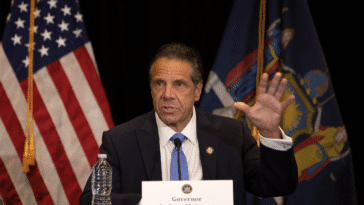 Gov. Andrew Cuomo speaks at a Bronx news conference Monday. Ben Fractenberg/THE CITY