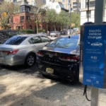 UES charging station blocked by gas-powered cars/Upper East Site